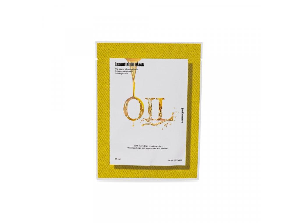 JEU'DEMEURE Essential Oil Mask - hydratační a obnovující pleťová maska 25g/1ks