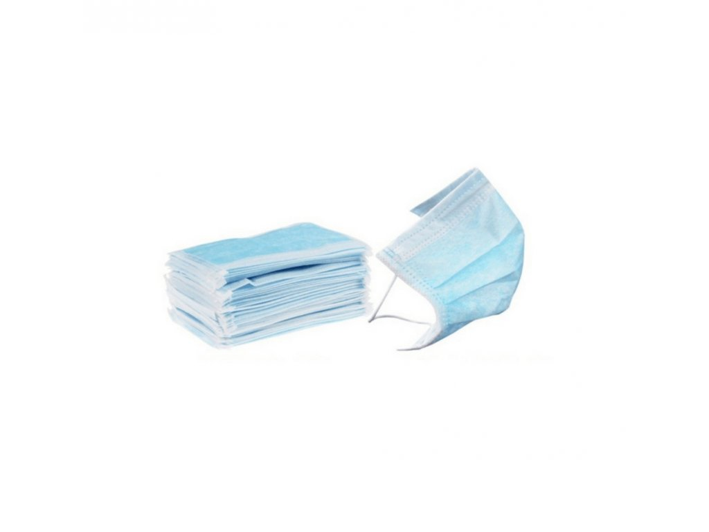 Zdravotnická rouška,  ústenka certifikovaná s gumičkou (50 ks)