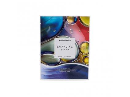 JEU'DEMEURE Balancing Mask - vyrovnávací plátýnková pleťová maska 25g/ 1 ks