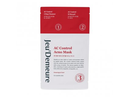 JEU'DEMEURE AC control Plátýnková pleťová maska  / 2 ML + 2 ML + 25 ML
