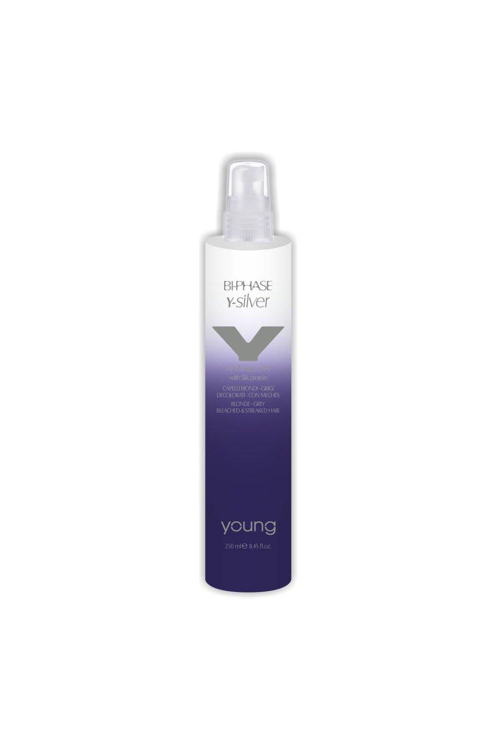 Young Y-SILVER BI-PHASE sprej pro neutralizaci žlutých tónů, oživení barvy 250ml