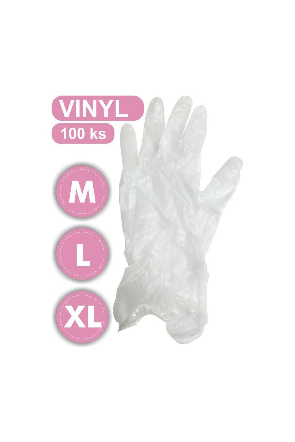 rukavice vinyl m l PD 2