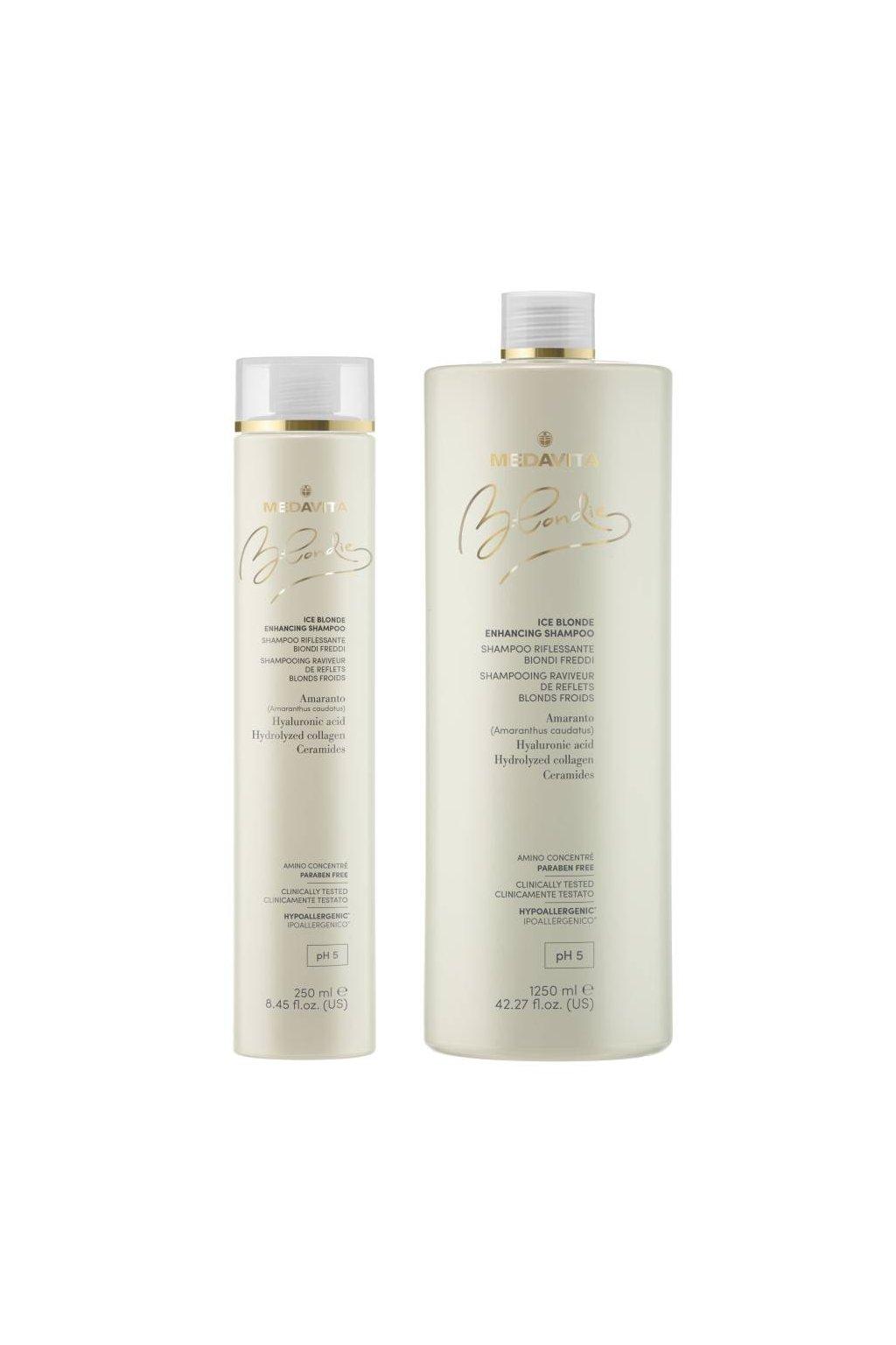 Medavita BLONDIE ICE Šampon s pigmenty pro studené blond odstíny