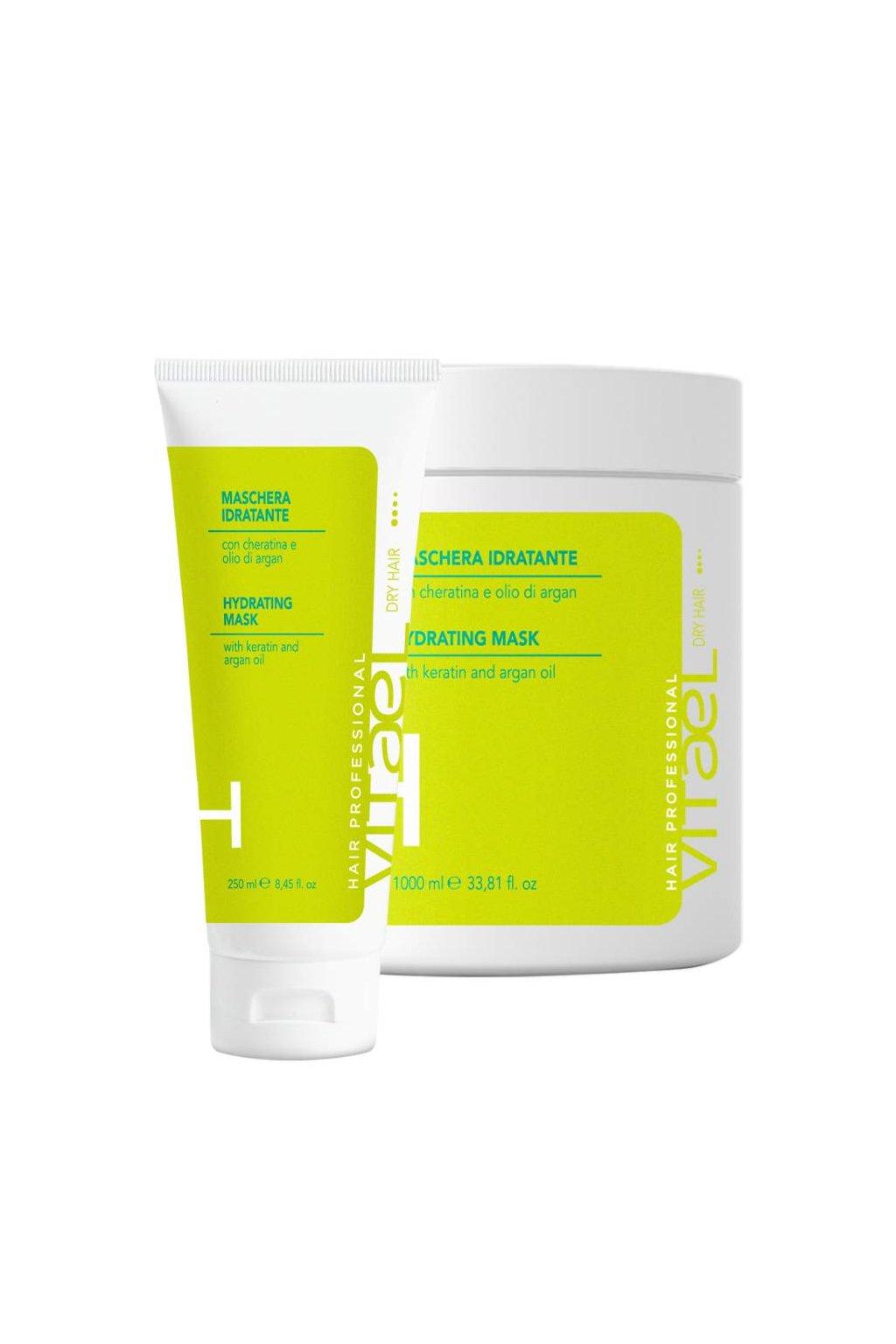 Vitael DRY Hydratační maska s keratinem a arganovým olejem pro namáhané suché vlasy