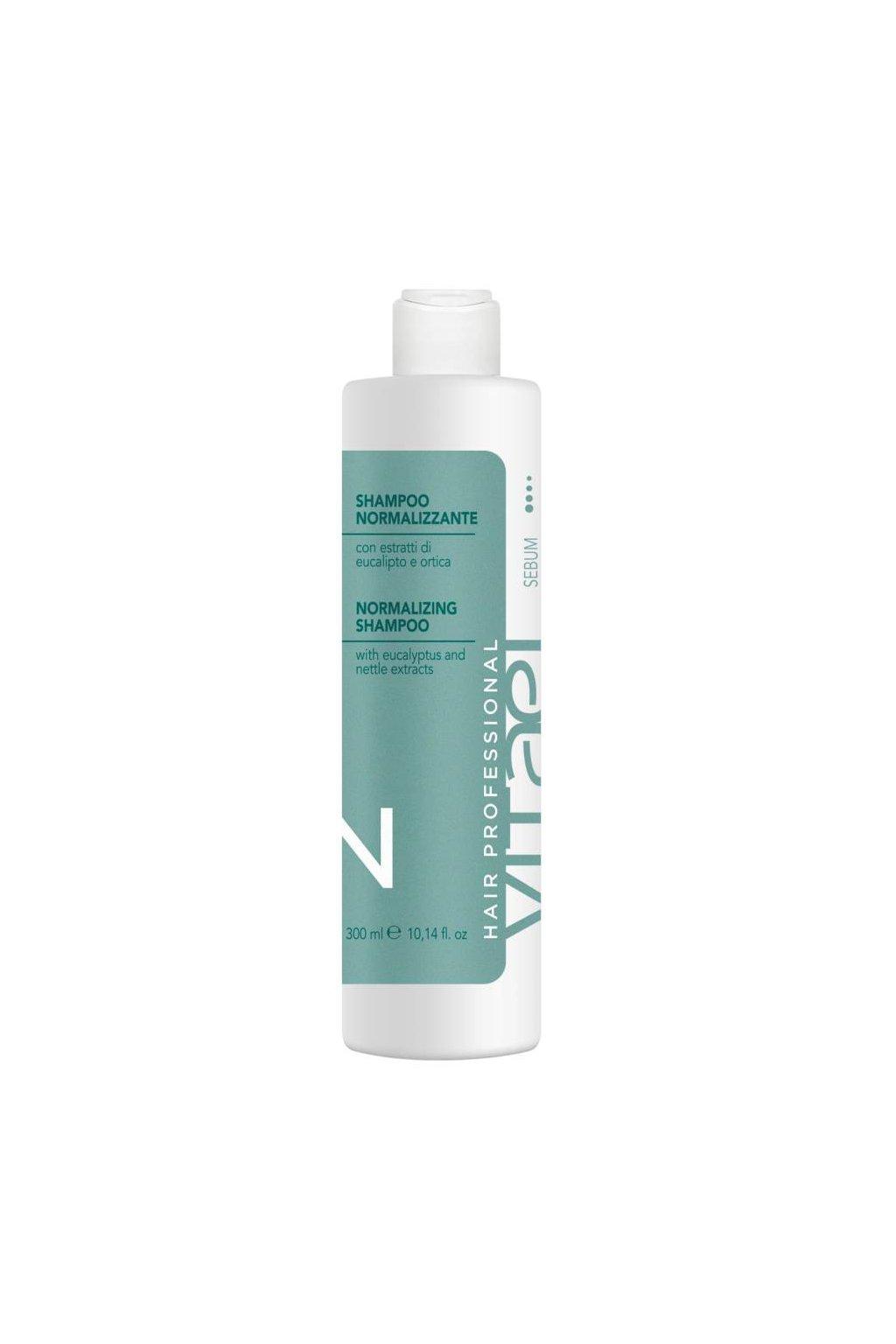 Vitael SEBUM Šampon pro mastnou pokožku s výtažky eukalyptu a kopřivy 300ml