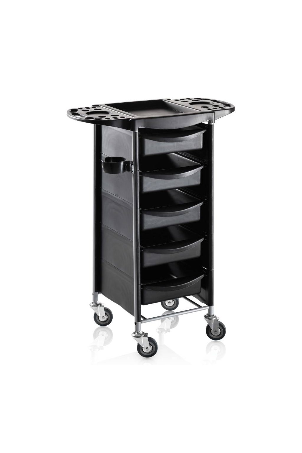 Kadeřnický vozík ACCADEMY 50, 5 šuplíků (Barva Černá)