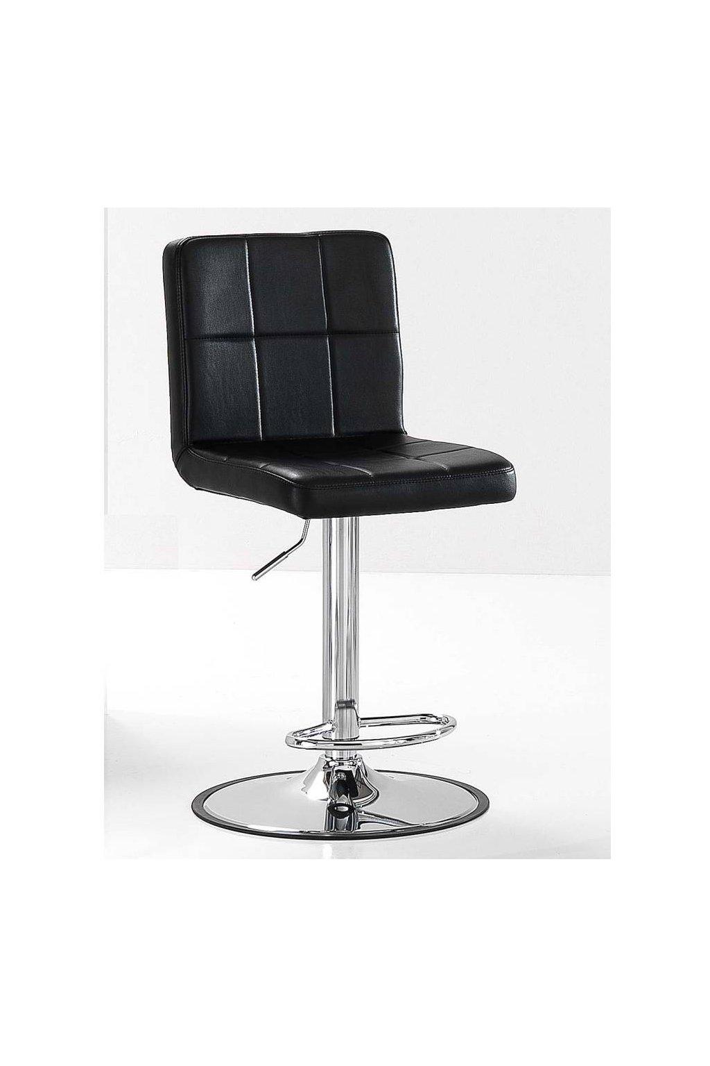 Multifunkční židle HAIR HAPPY s opěrkou pro nohy (Barva Černá)