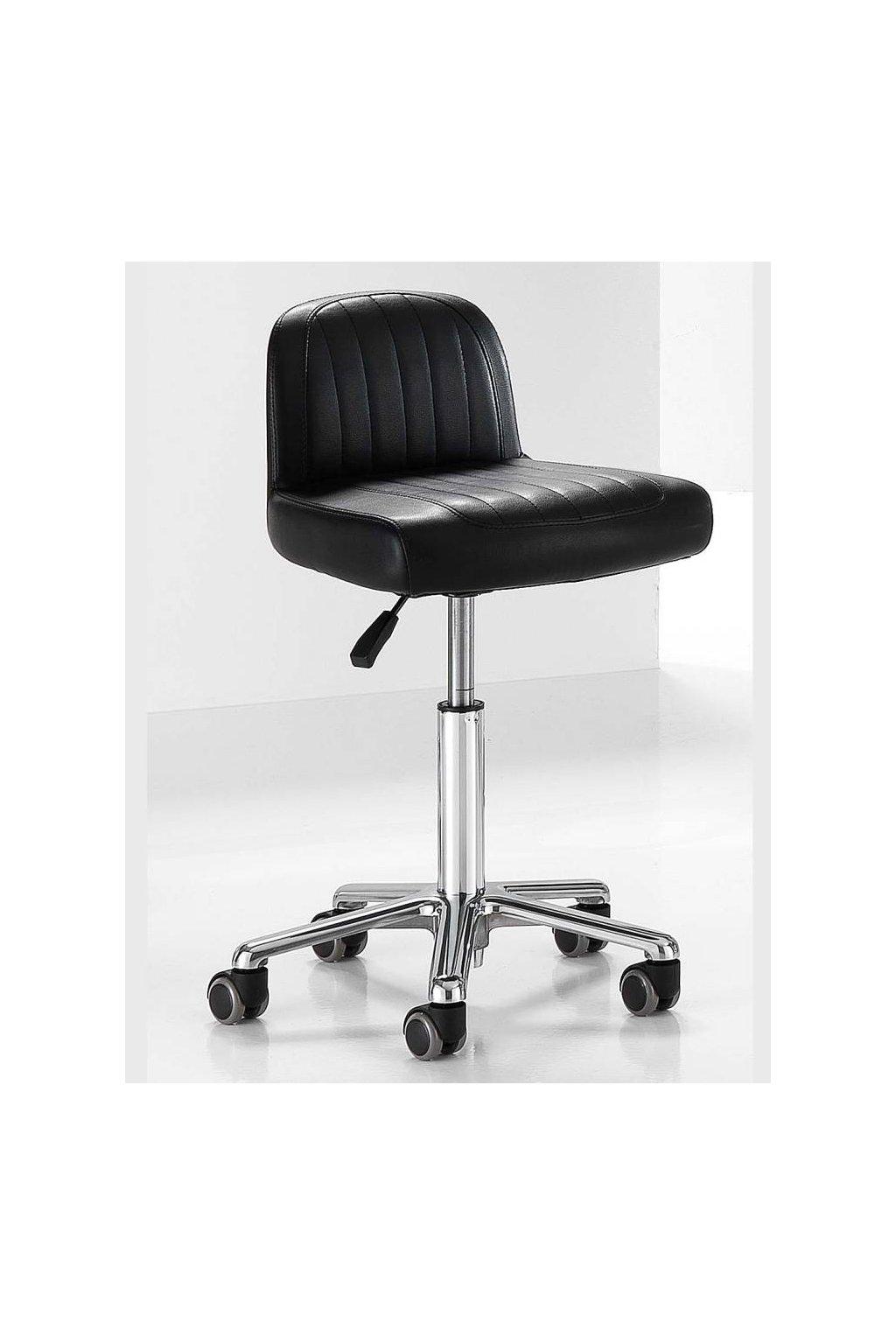 Multifunkční židle HAIR MADE chrom hvězdice (Barva Černá)