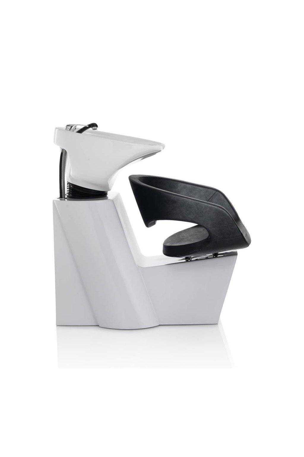 Mycí BOX WAVE keramika bílá, koženka černá (Báze Světlá)