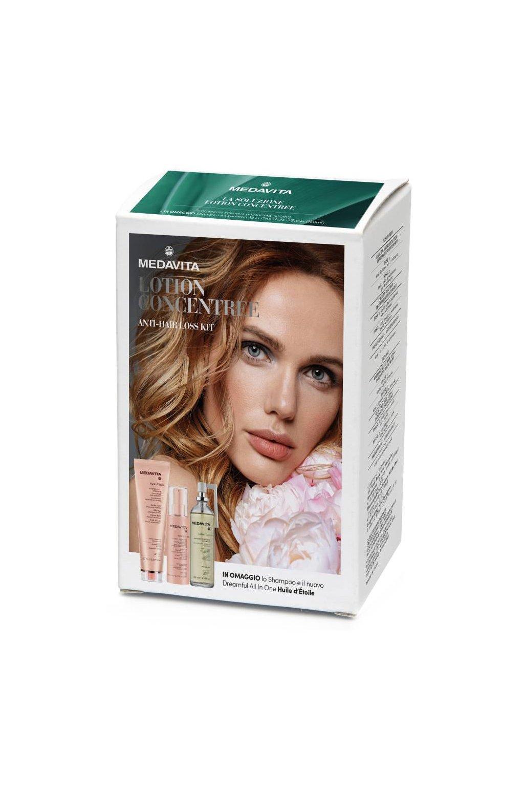 Medavita SET pro ženy Huile šampon 150ml, sprej 10v1 150ml, sprej proti padání vlasů