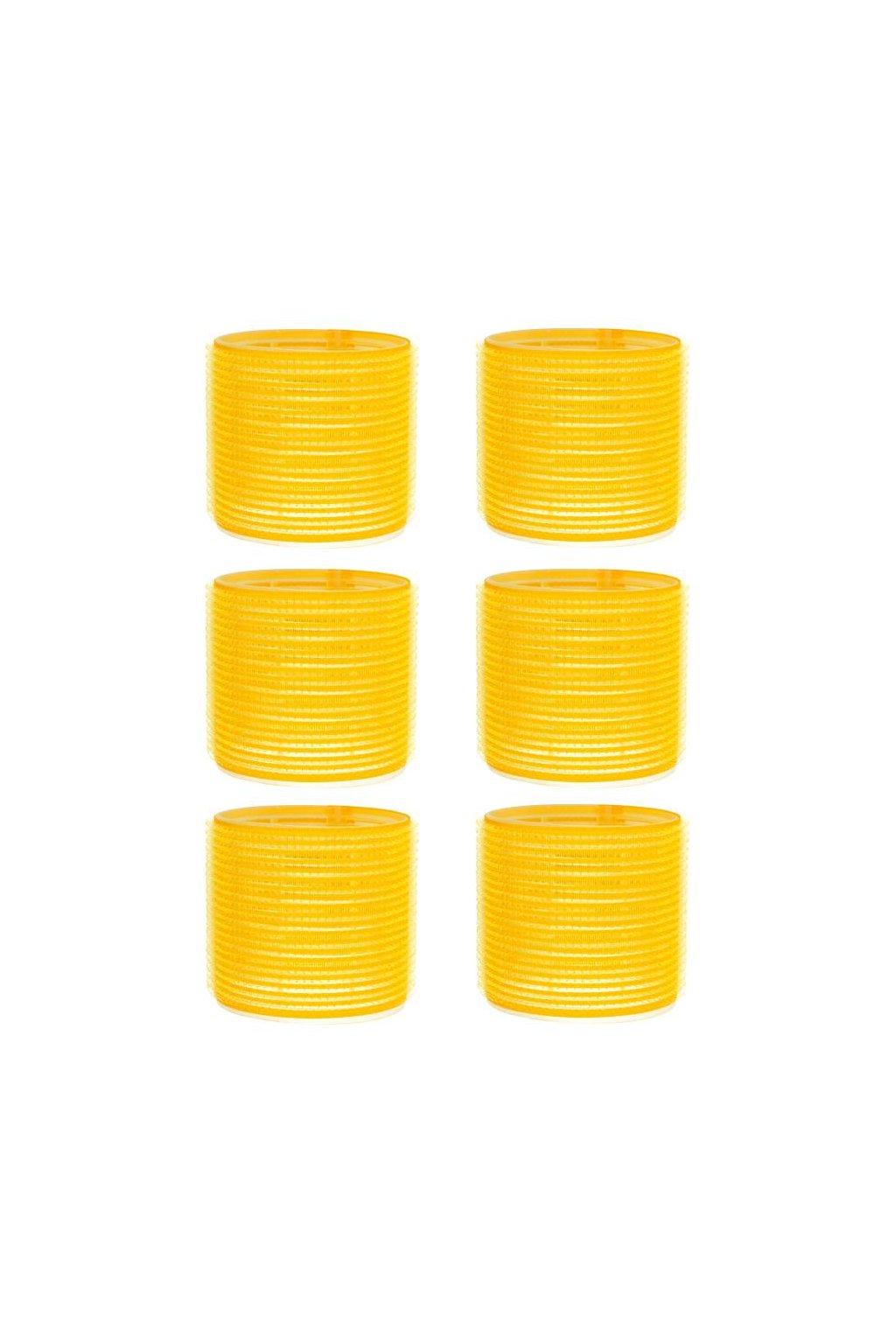 Natáčky suchý zip průměr 66mm žluté Xanitalia