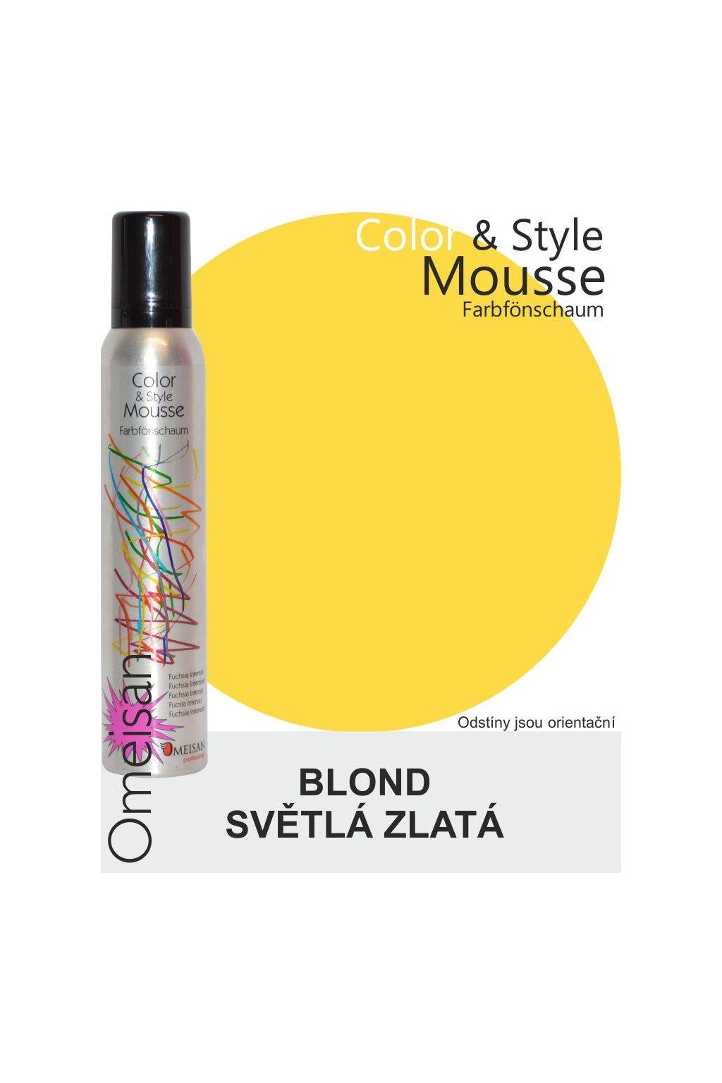 Omeisan Barevná pěna tužící Hellgoldblond 200ml Blond světlá zlatá