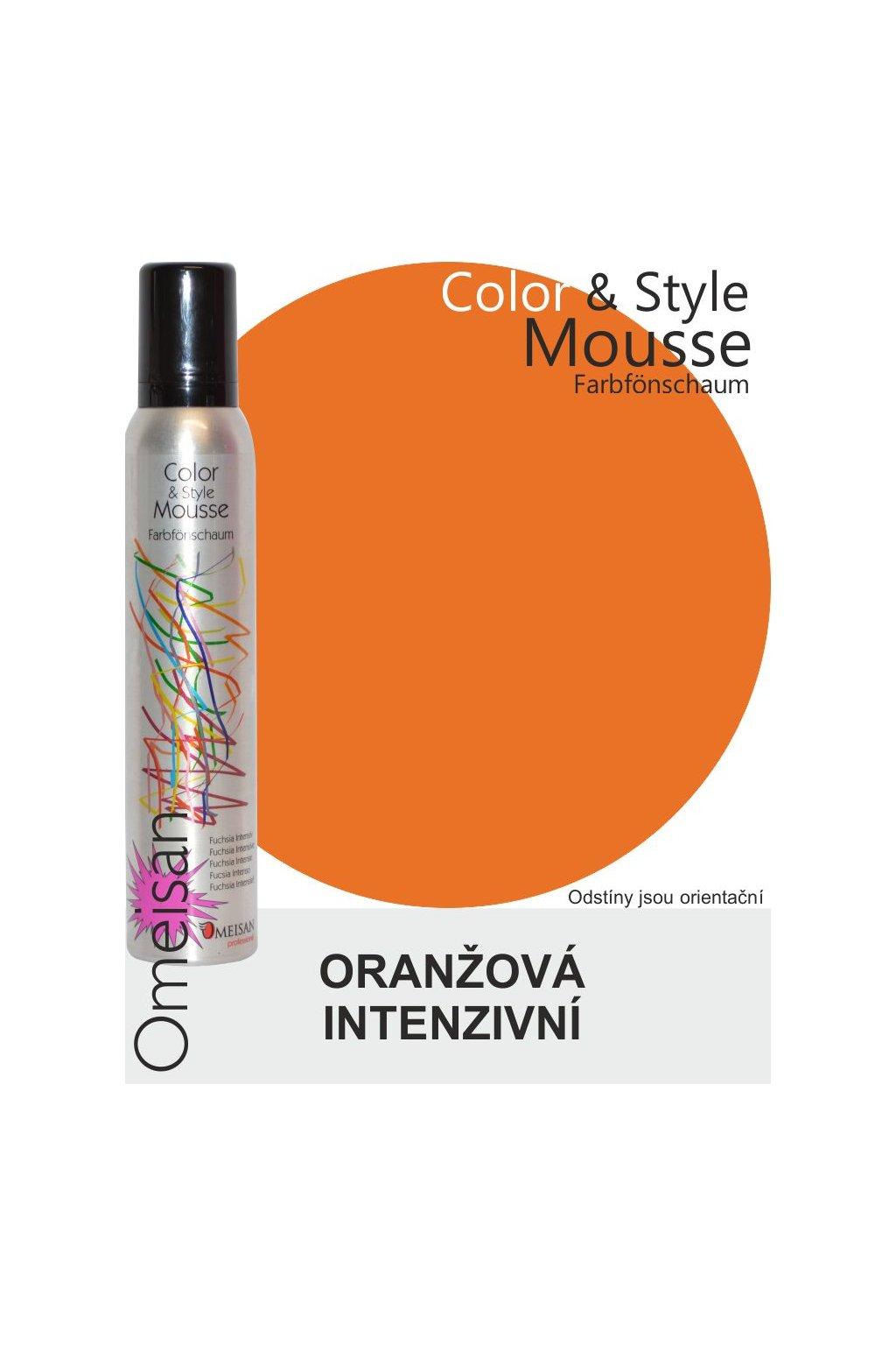 Omeisan Barevná pěna tužící Orange Intensiv 200ml Oranžová intenzivní