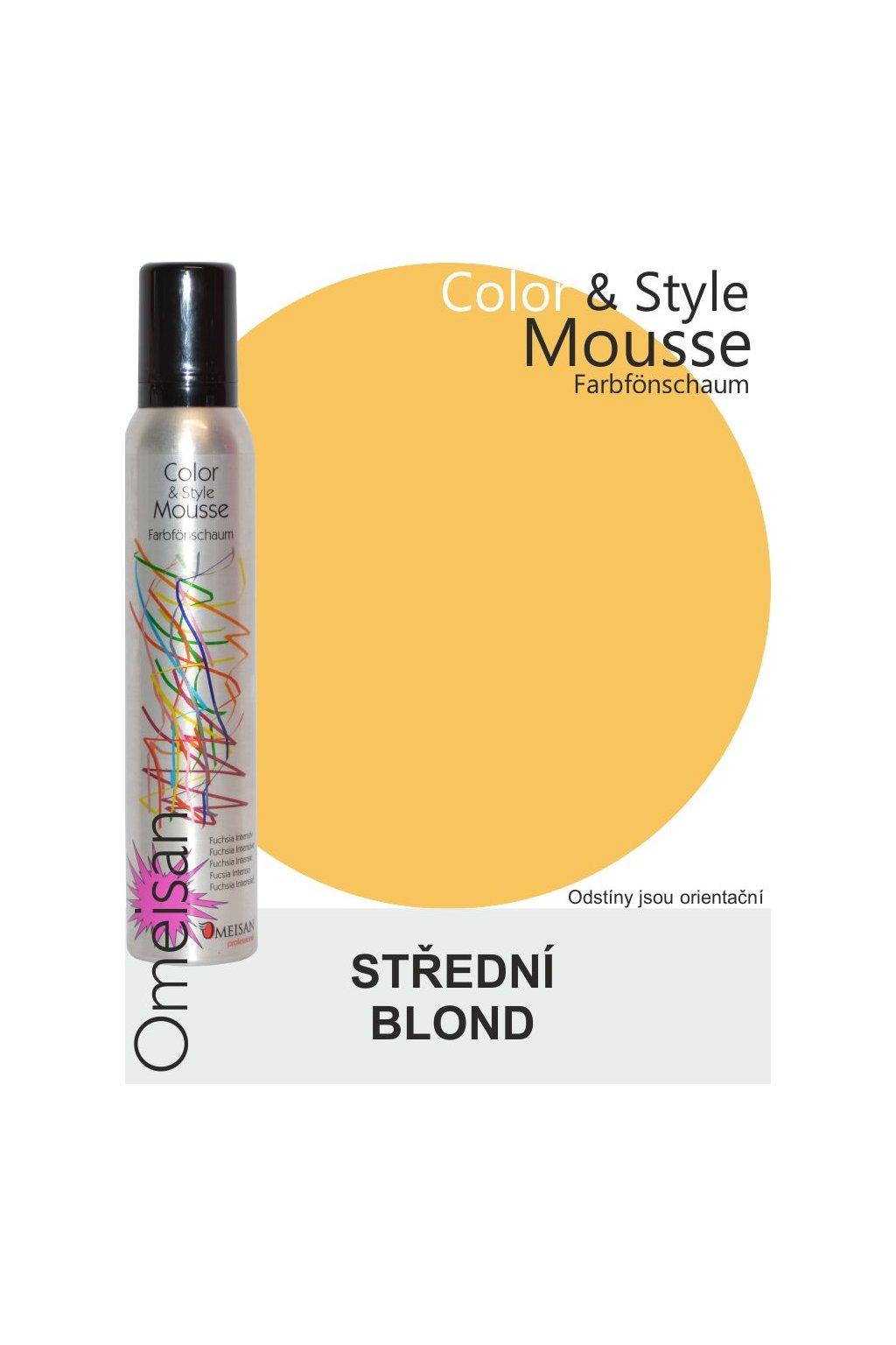 Omeisan Barevná pěna tužící Mittelblond 200ml Střední blond
