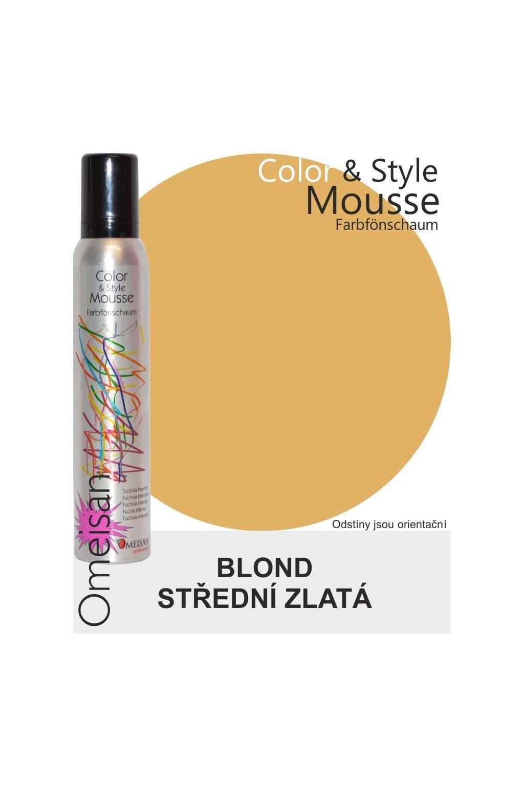 Omeisan Barevná pěna tužící Mittelgoldblond 200ml Blond střední zlatá