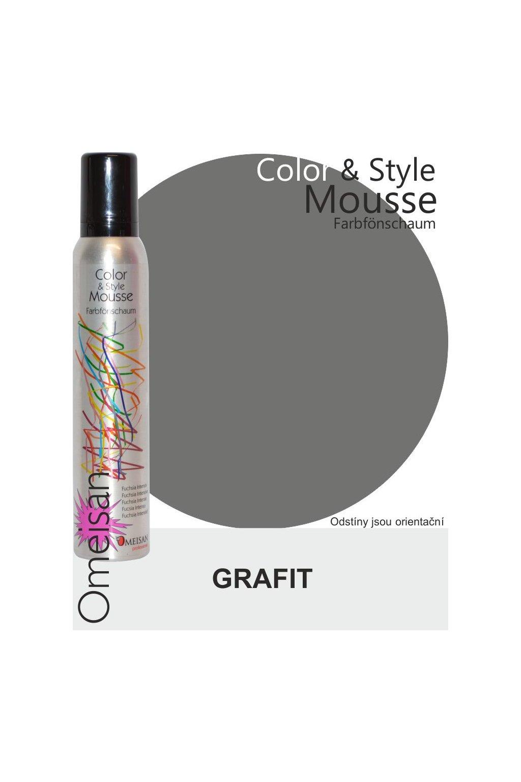 Omeisan Barevná pěna tužící Graphit 200ml Grafit