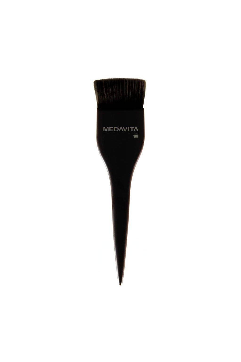 Štětec Pincel pro pečující přípravky, velké (husté) štětiny, černý matný Medavita