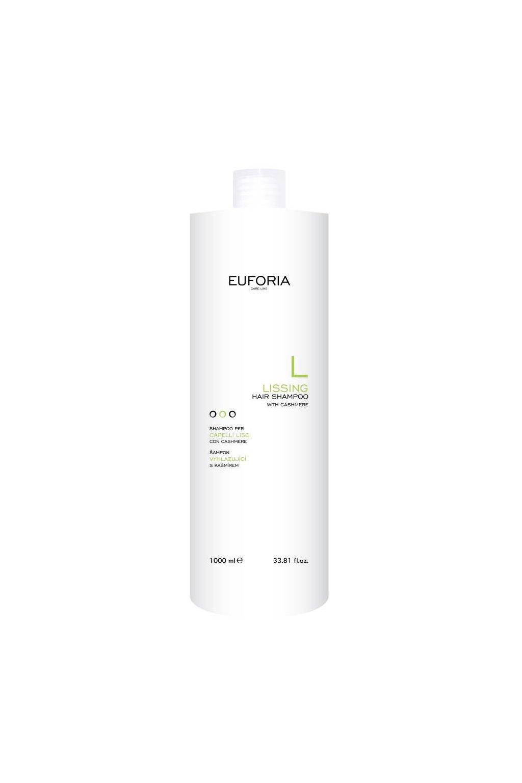 Euforia LISSING Šampon vyhlazující proti krepatění, regenerační s kašmírem 1000ml