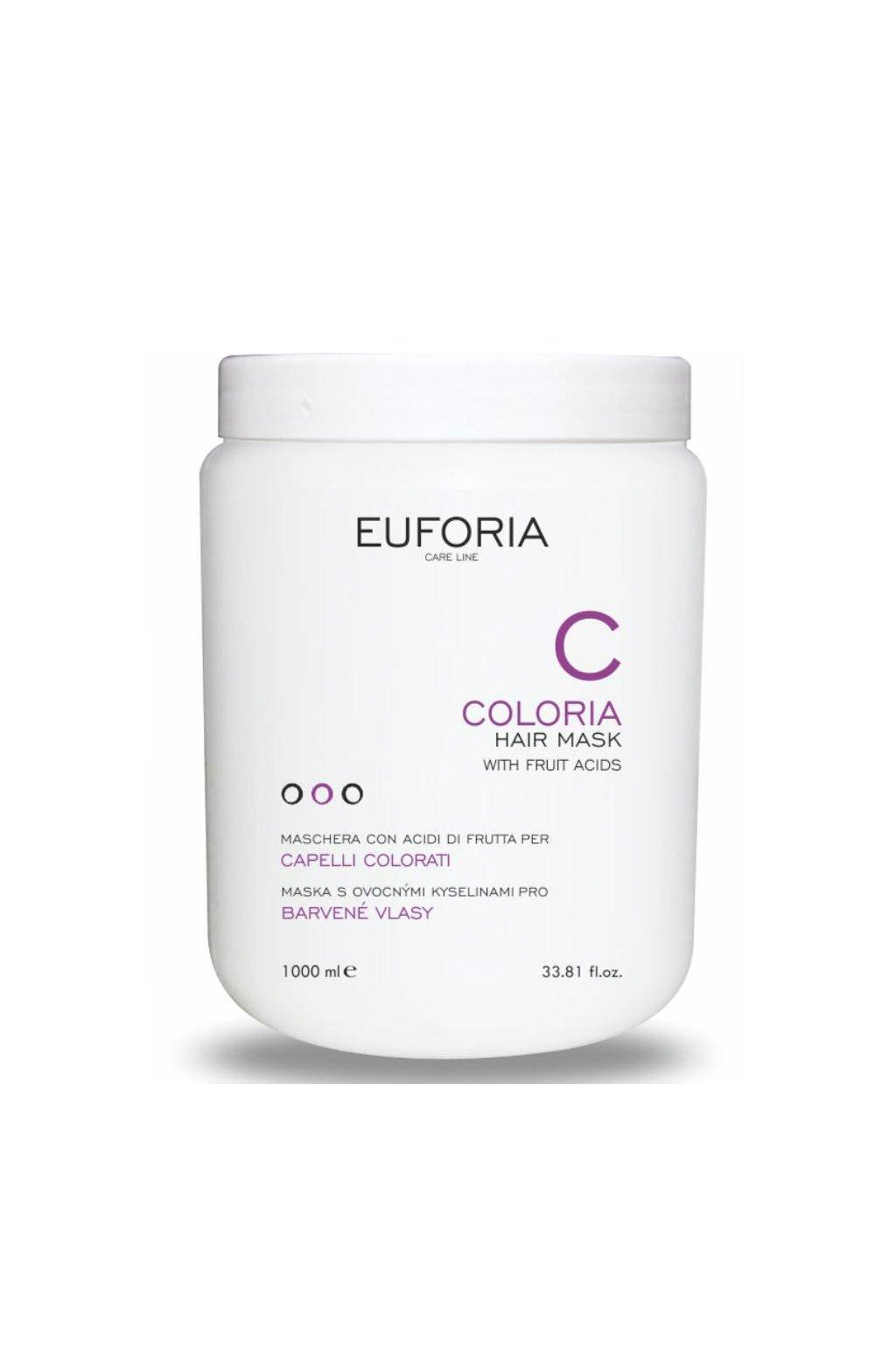 Euforia COLORIA Maska pro barvené vlasy ochranná s ovocnými kyselinami 1000ml
