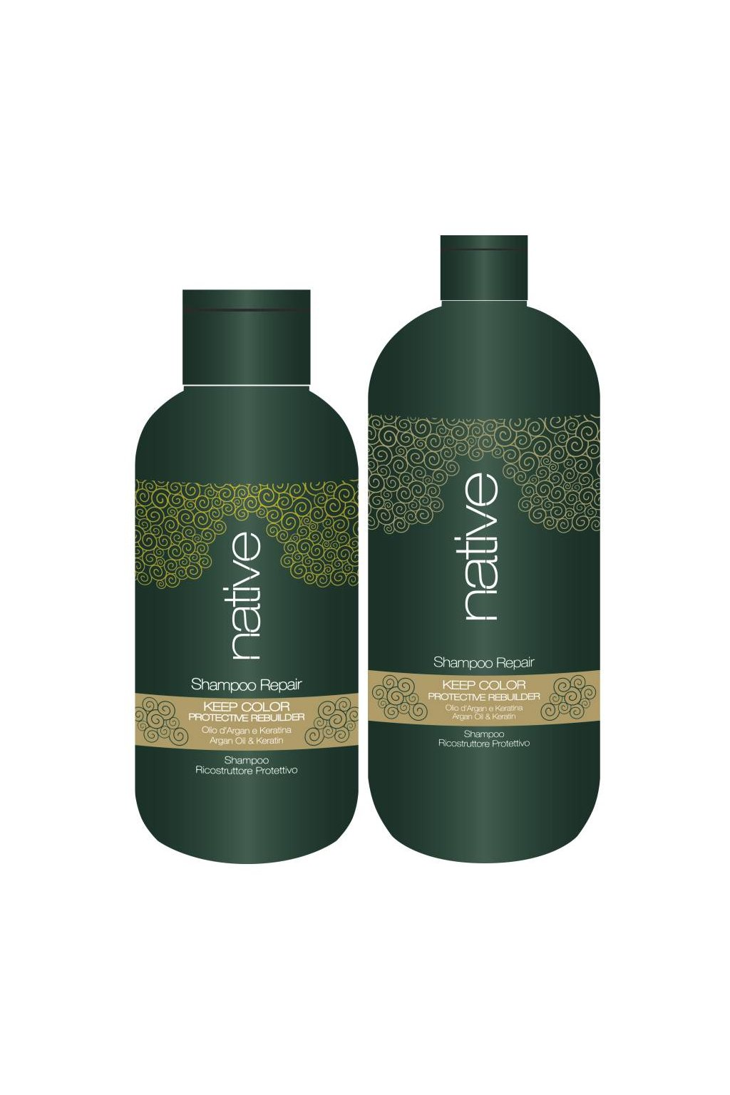 Native Šampon hloubkově obnovující s arganovým olejem a keratinem
