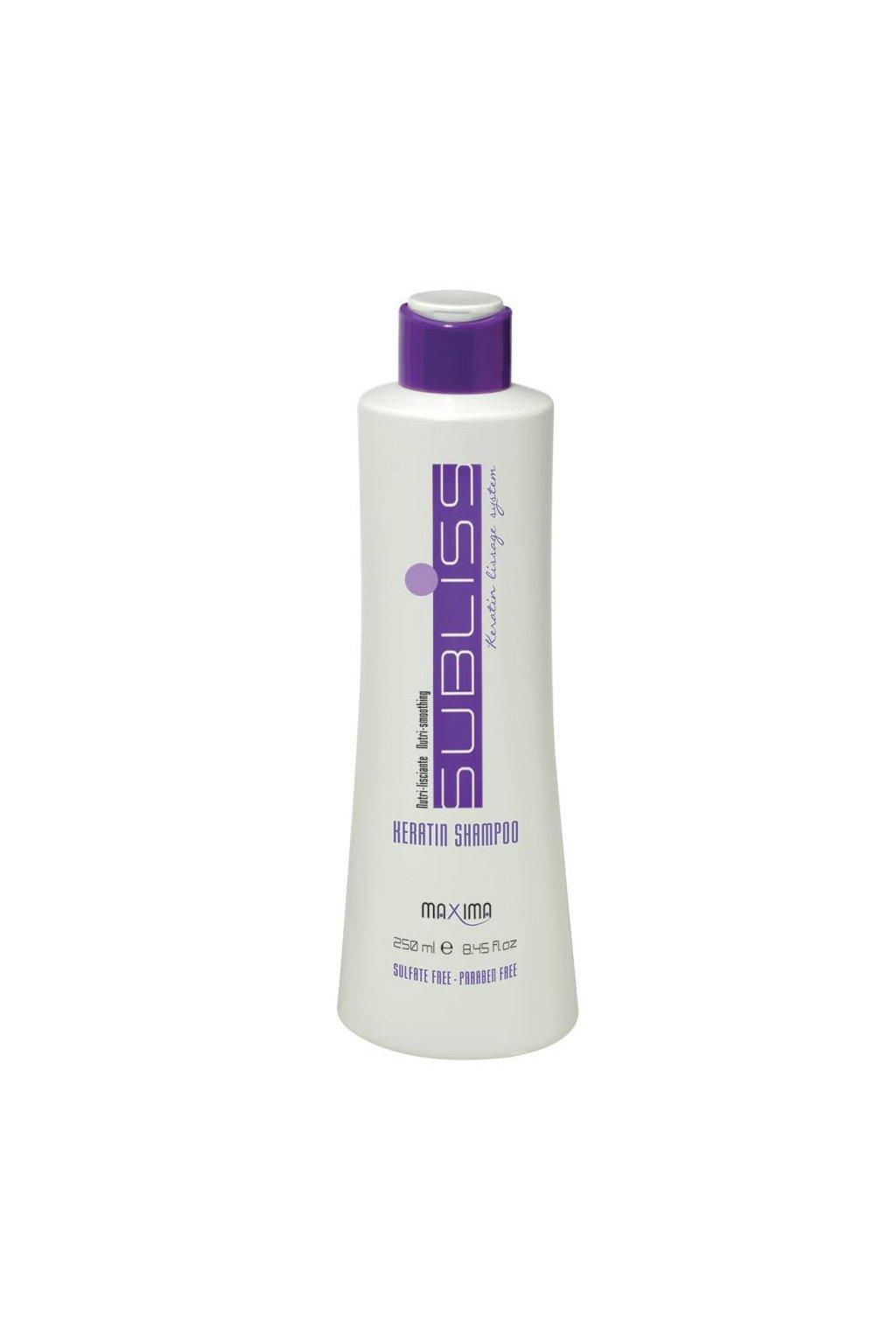 Maxima SUBLISS Šampon pro hladké vlasy s keratinem, vyhlazuje, hydratuje 250ml