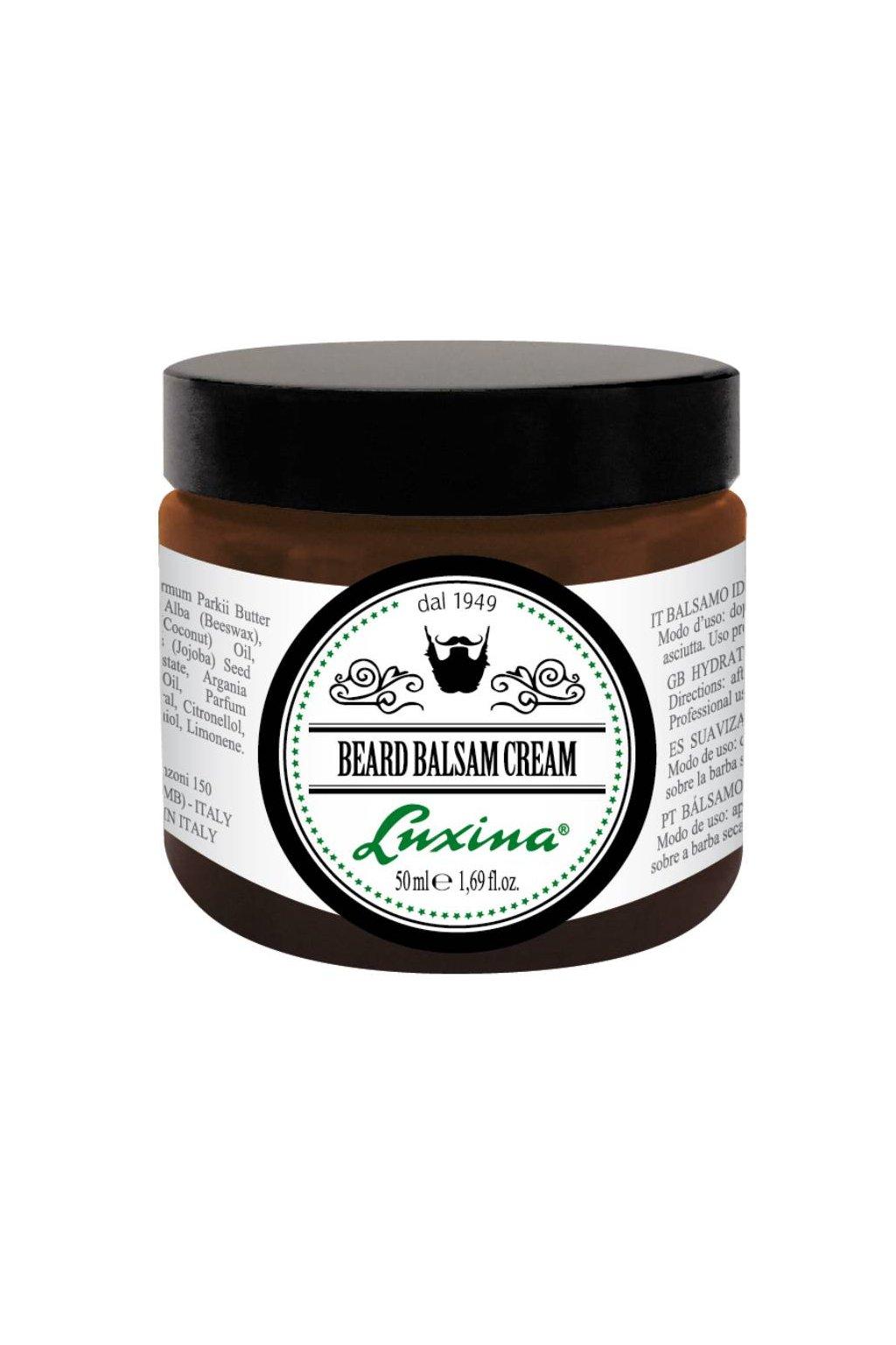 Luxina BEARD BALSAM CREAM každodenní stylová péče o vousy a knír, bez oplachu 50ml