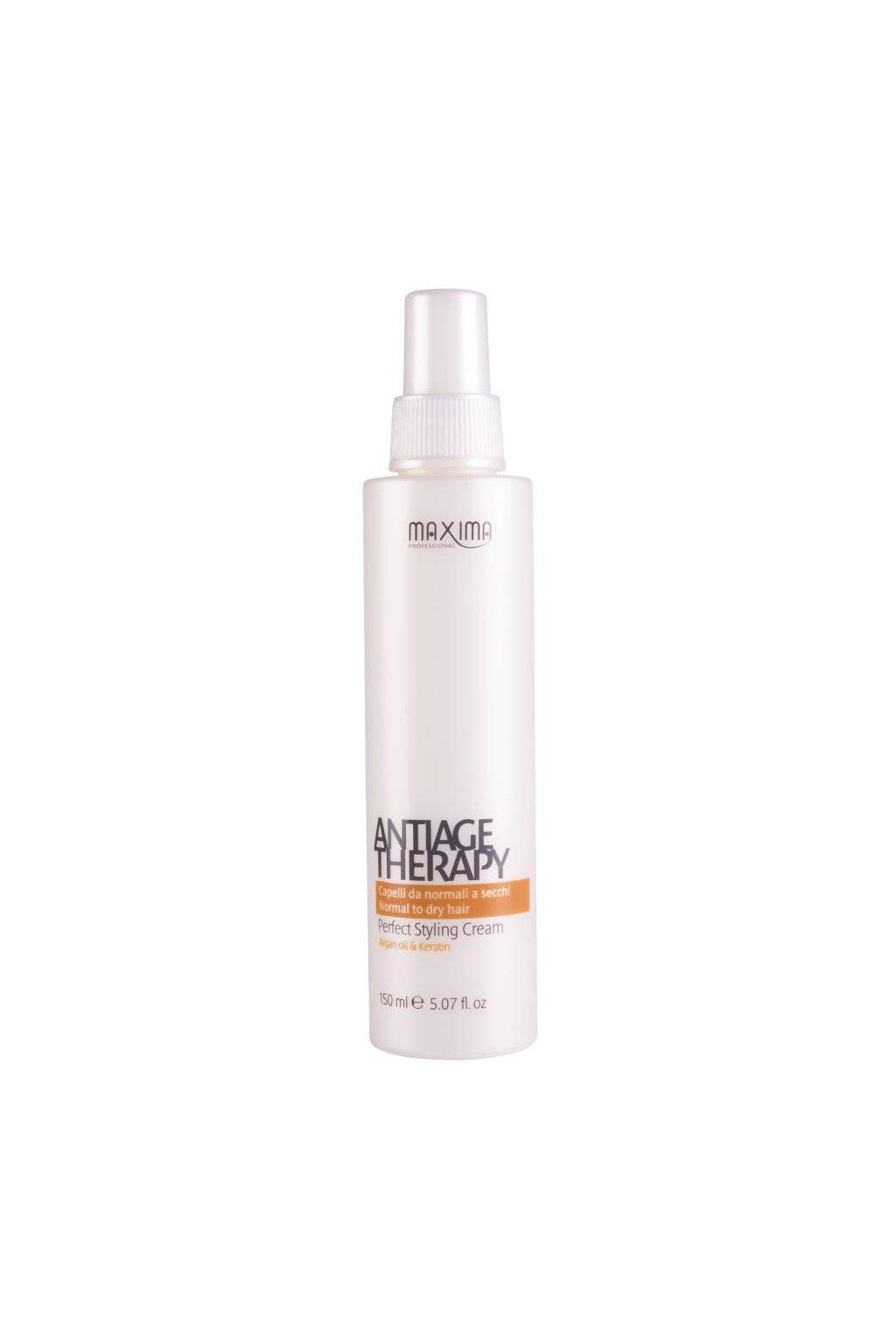 Maxima ANTIAGE Sérum Styling Cream pro obnovu přirozené krásy vlasů a obnovu konečků 150ml