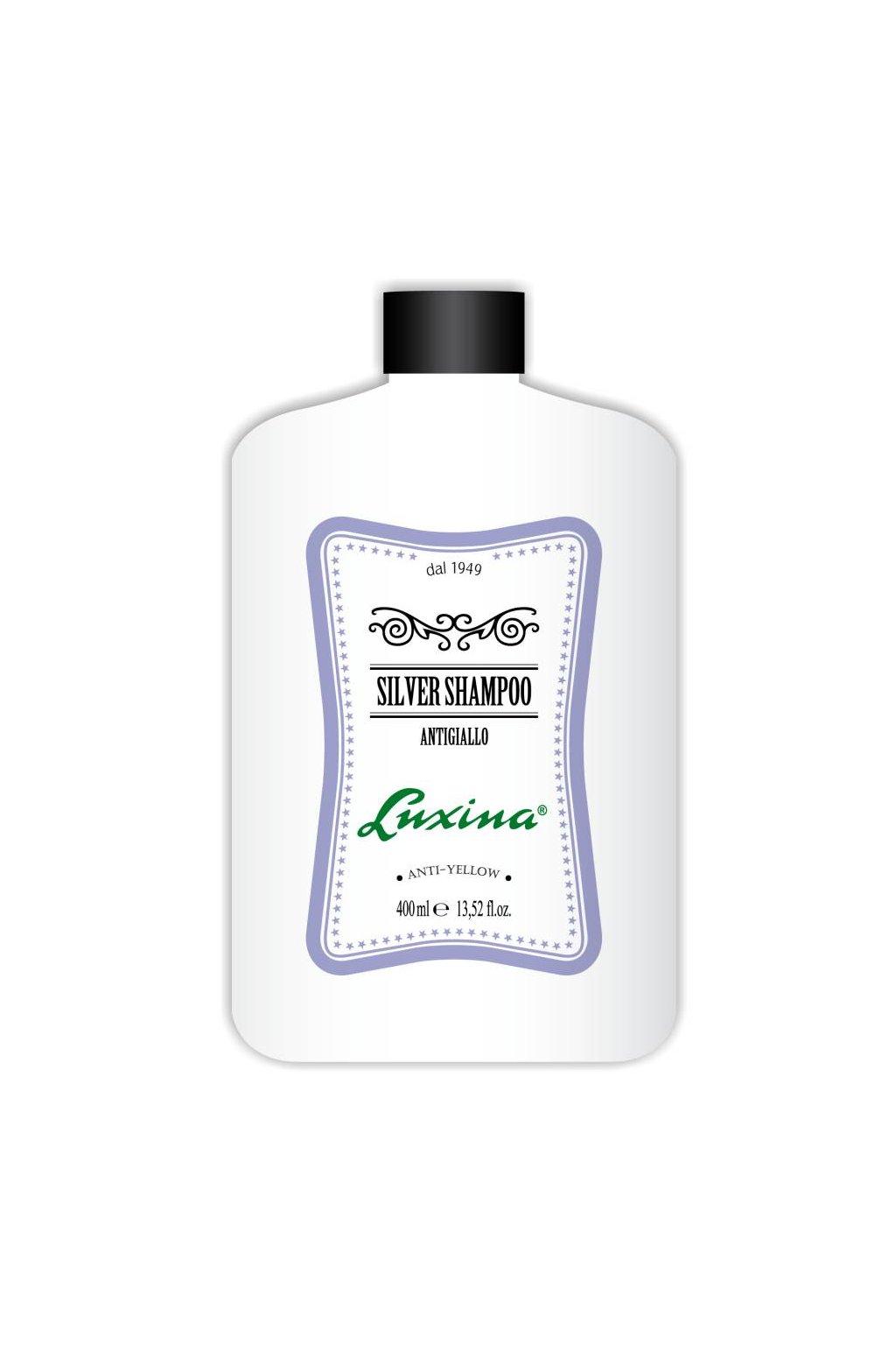 Luxina ŠAMPON SILVER pro bílé a prošedivělé vlasy s fialovými mikro pigmenty 400ml