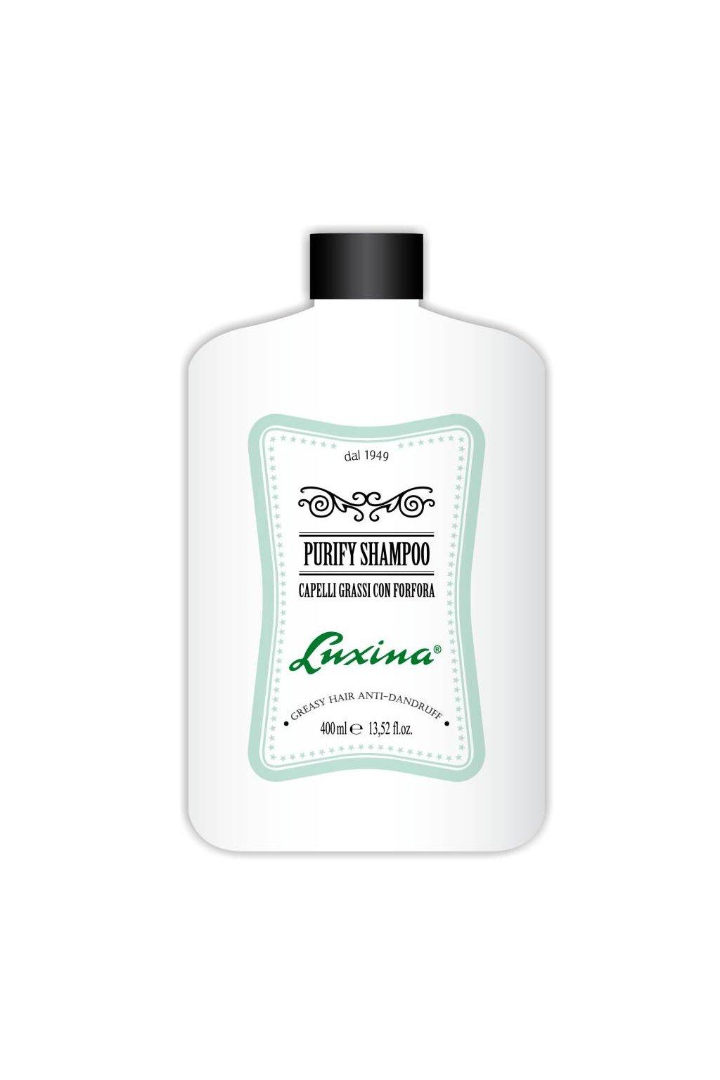Luxina ŠAMPON PURIFY proti lupům s regulací kožního mazu s Piroctone Olamine 400ml