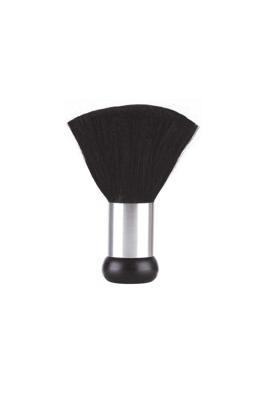 Oprašovák XAN černý, stříbrná obručka, jemné chlupy