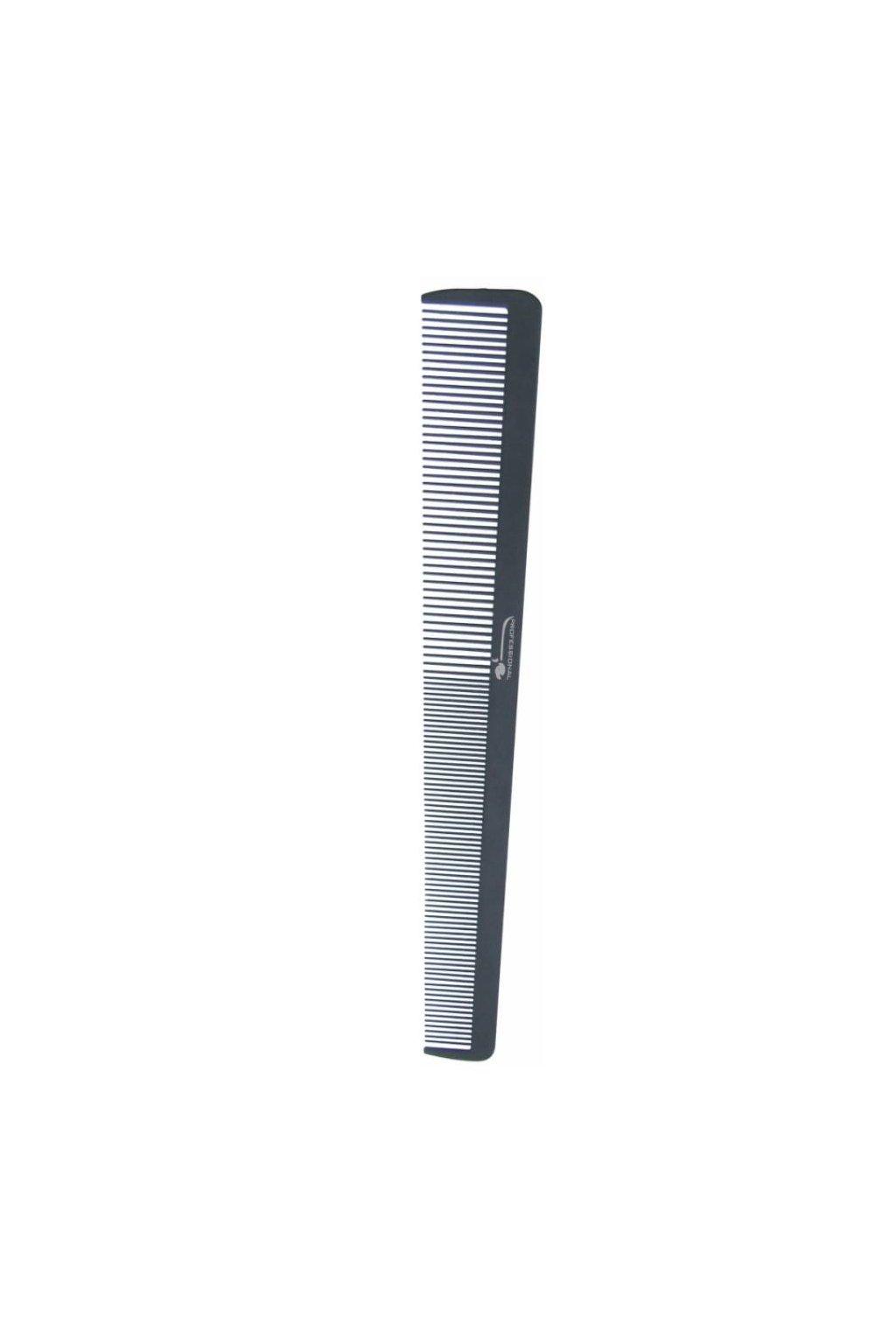 Hřeben DELRIN POM dlouhý, výrazné rozšíření, řídký/hustý 20,2cm