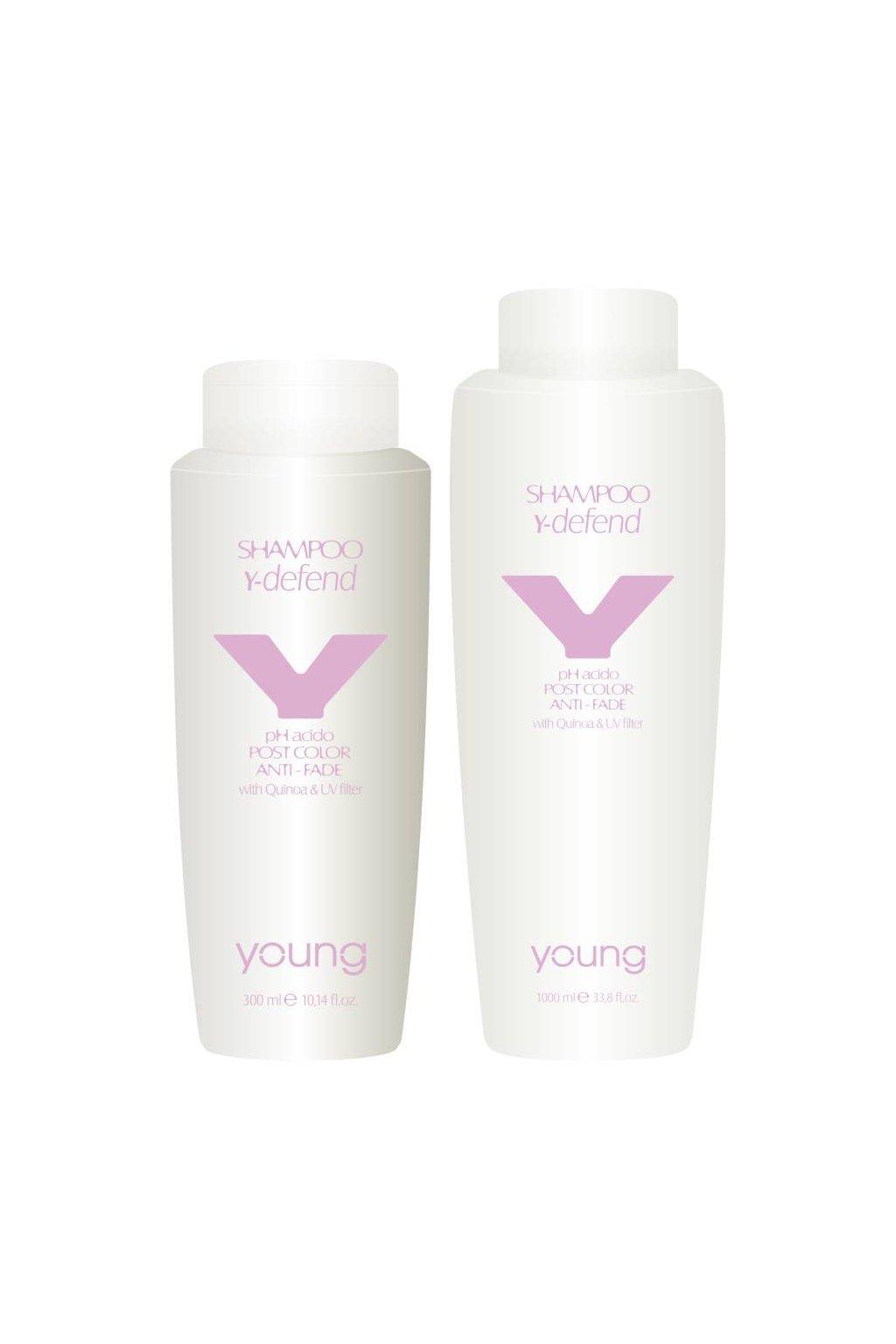 Young Y-DEFEND Šampon pro barvené vlasy s kyselým pH, quinoou a UV filtrem