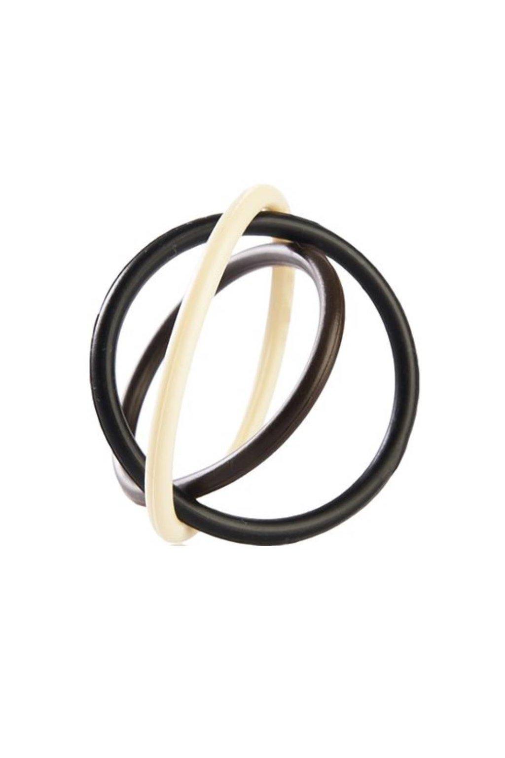 Gumičky na vlasy elastické silikonové průměr 4cm, tloušťka 3mm, 1 balení 5ks