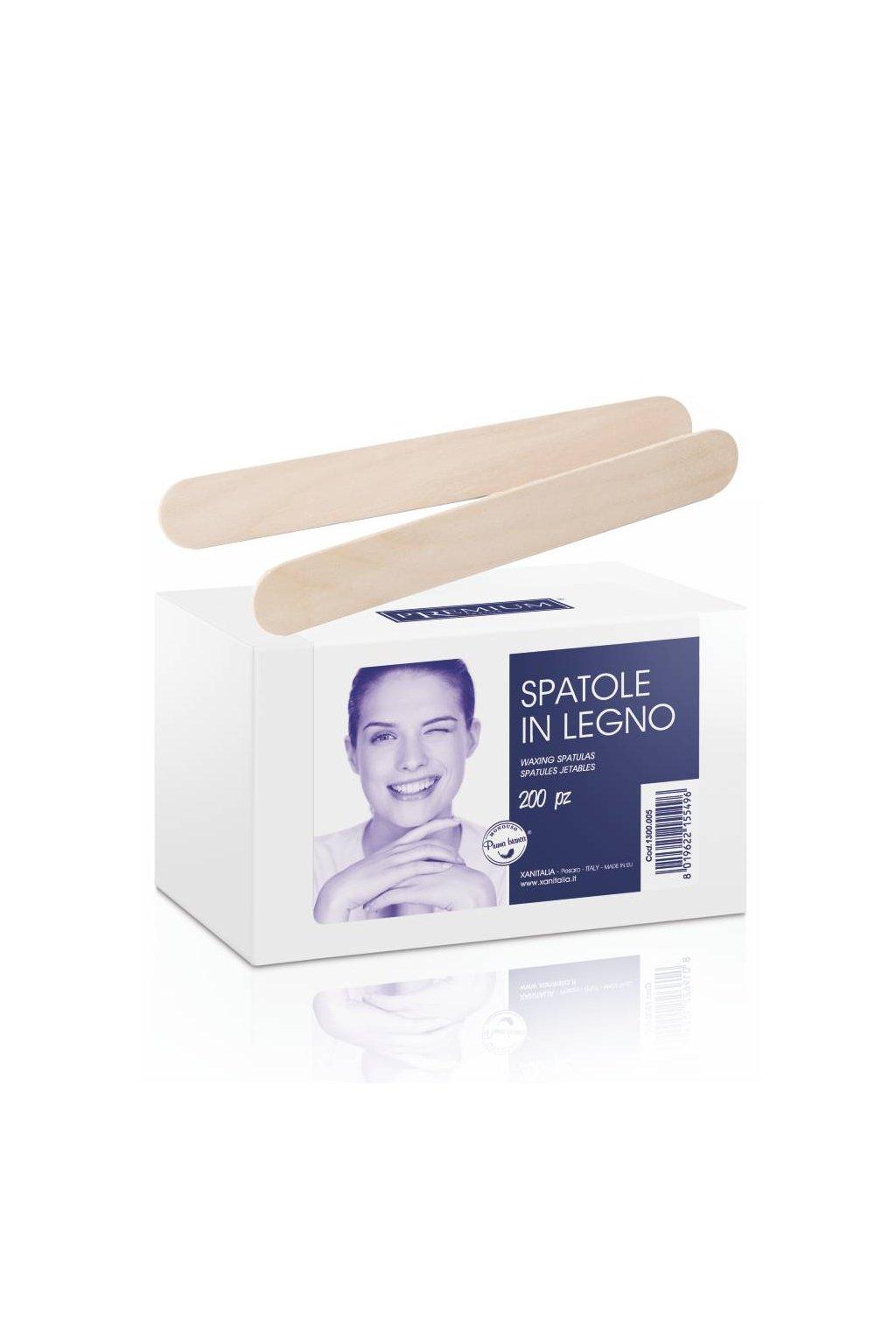 Kosmetická špachtle dřevo 15cm jednorázová na aplikaci vosku 1bal./200ks