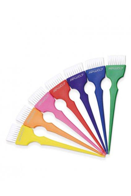 Štětec na barvení vlasů Rainbow střední 4cm s hedvábnými vlákny SET 7ks