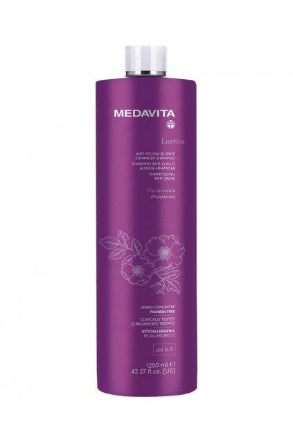 Medavita LUXVIVA Šampon Anti-Yellow pro neutralizaci žlutých tónů 1250ml