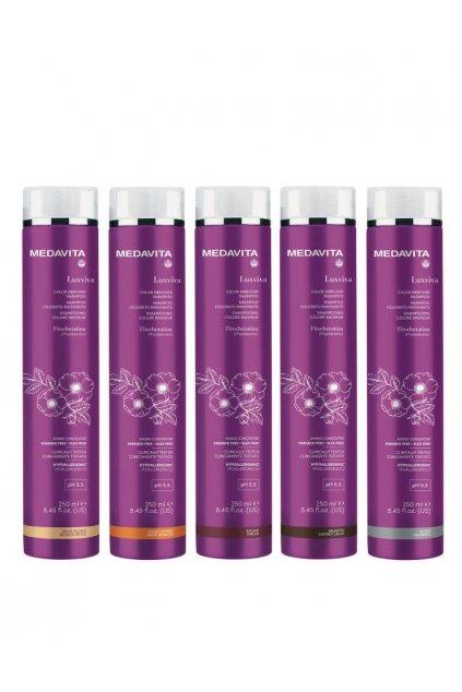 Medavita LUXVIVA Barvící šampon pro oživení barvy s filtry UVA/UVB 250ml