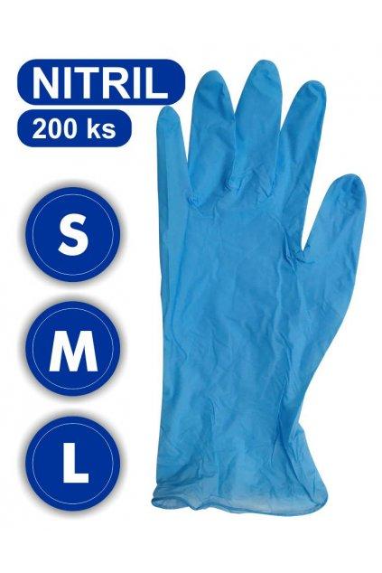 rukavice nitril 200 s m l