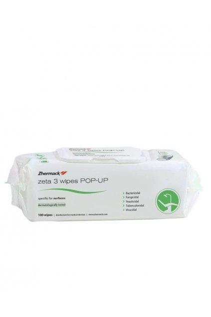 Dezinfekční ubrousky na plochy Zeta 3 Wipes Pop-Up 100ks/balení