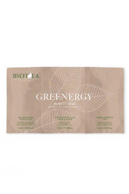 Byotea Greenergy Čistící trio TESTER SET 3v1 čistící gel, maska, krém Sorbet