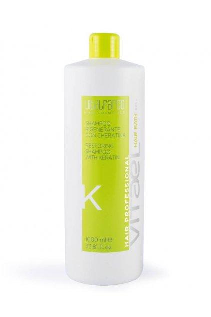 """Vitael KERATIN Šampon """"K"""" regenerační pro suché, barvené a poškozené vlasy 1000ml"""