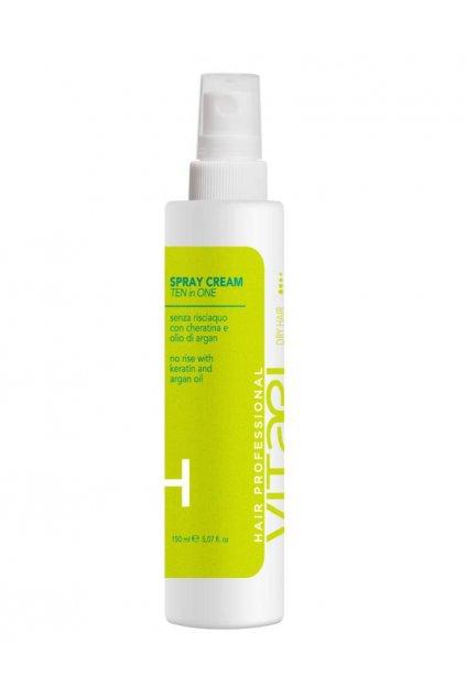 Vitael DRY Krém ve spreji 10v1 pro suché vlasy, chrání před teplem 150ml