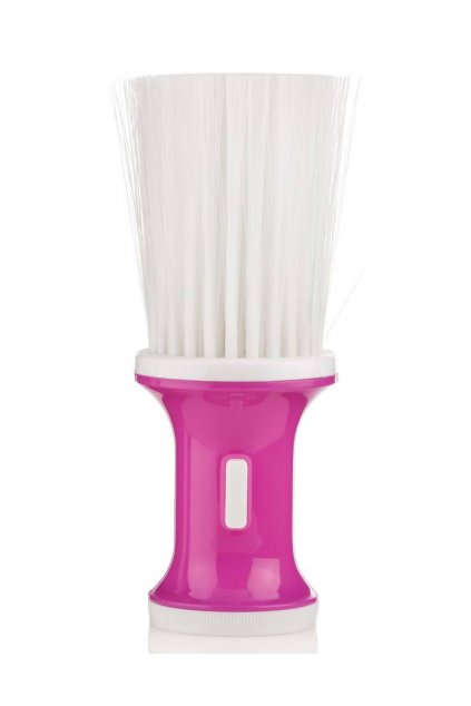 Oprašovák XAN Spargi růžový plastový, dlouhé nylonové štětiny bílé