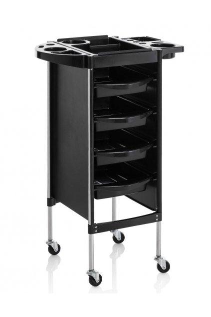 Kadeřnický vozík ACCADEMY 40, 4 šuplíky (Barva Černá)