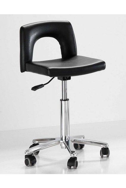 Multifunkční židle HAIR EASY chrom hvězdice (Barva Černá)