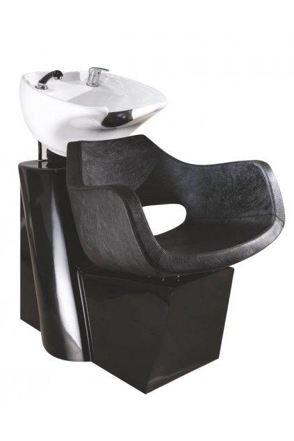 Mycí BOX ENDI keramika bílá, koženka černá (Báze Černá)
