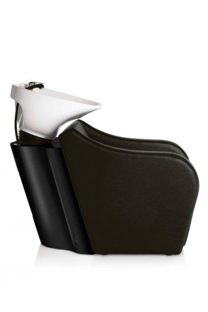 Mycí BOX OMEGA keramika bílá, koženka černá (Báze Černá)