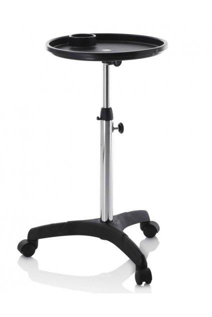 Servisní vozík ROUND nastavitelná výška (Barva Černá)
