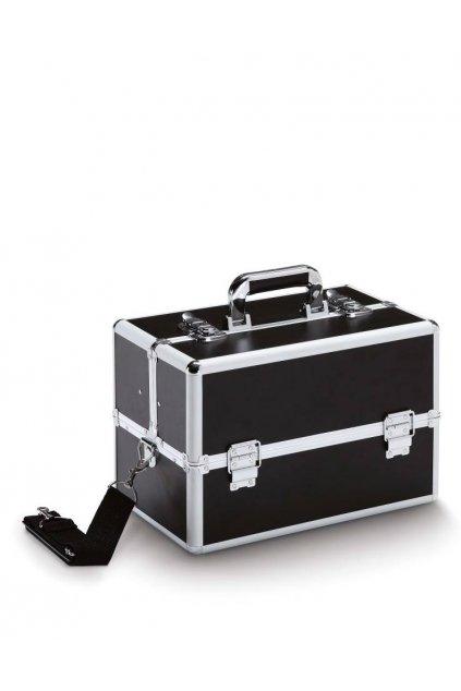 Kadeřnický a kosmetický kufr JOB 200 BLACK černý přes rameno