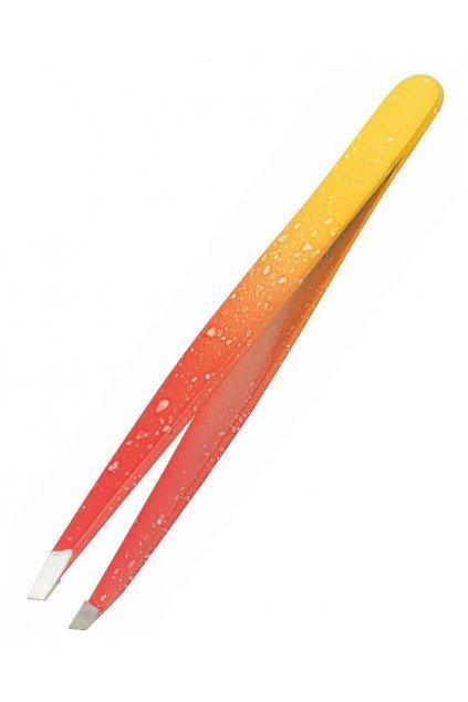 Pinzeta šikná inox nerezová ocel DUHA červeno žlutá